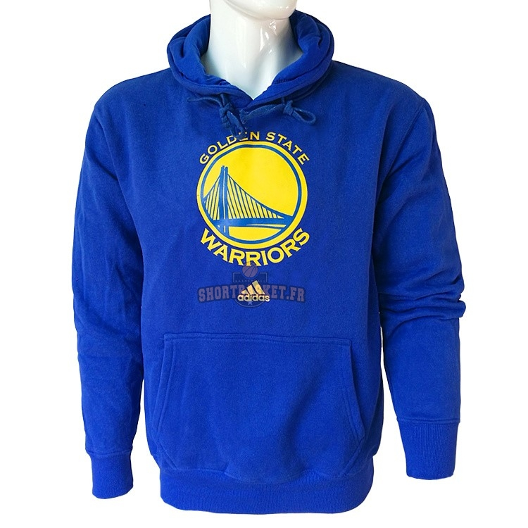 Nouveau Hoodies NBA Golden State Warriors Bleu City pas cher