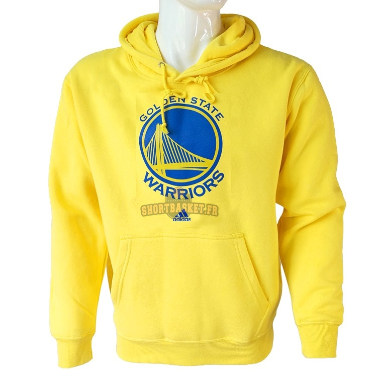 Nouveau Hoodies NBA Golden State Warriors Jaune City pas cher