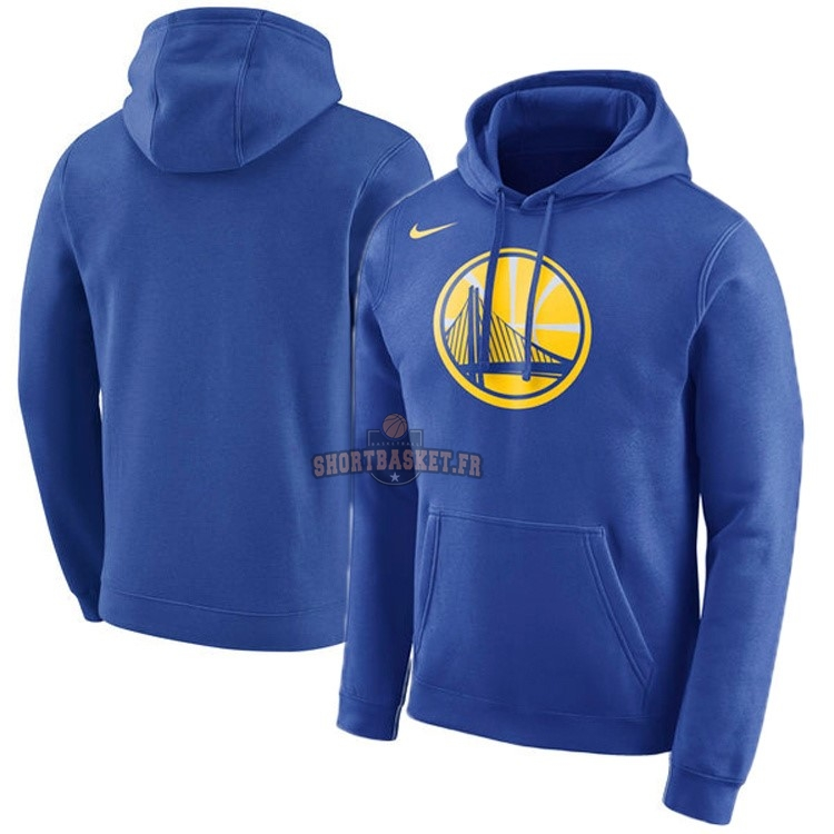 Nouveau Hoodies NBA Golden State Warriors Nike Bleu pas cher