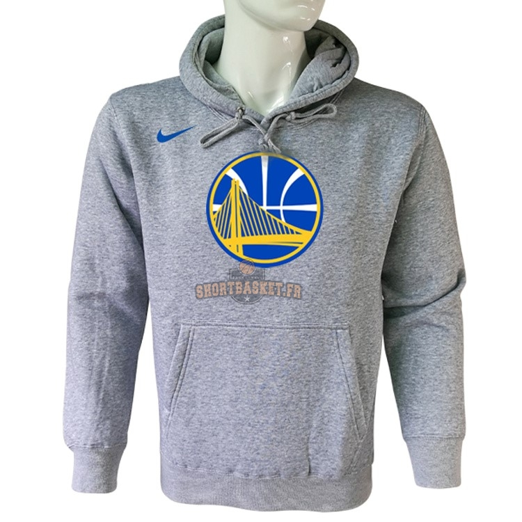 Nouveau Hoodies NBA Golden State Warriors Nike Gris pas cher