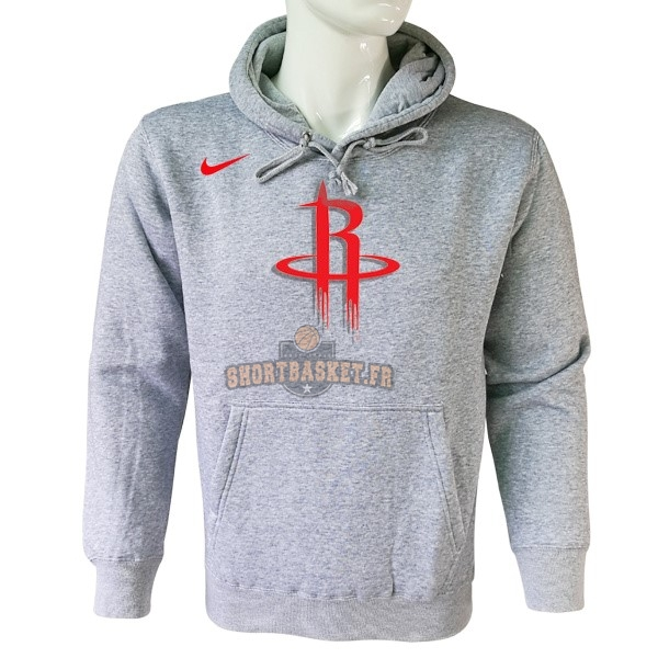 Nouveau Hoodies NBA Houston Rockets Nike Gris pas cher