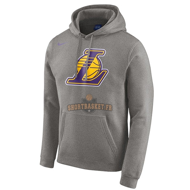 Nouveau Hoodies NBA Los Angeles Lakers Nike Gris pas cher