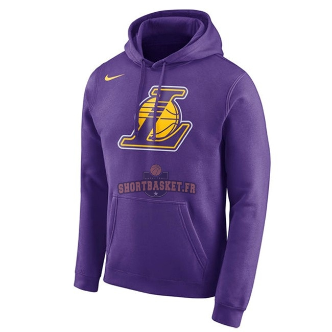Nouveau Hoodies NBA Los Angeles Lakers Nike Pupura pas cher