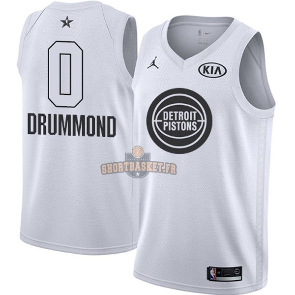 Nouveau Maillot NBA 2018 All Star NO.0 Andre Drummond Blanc pas cher