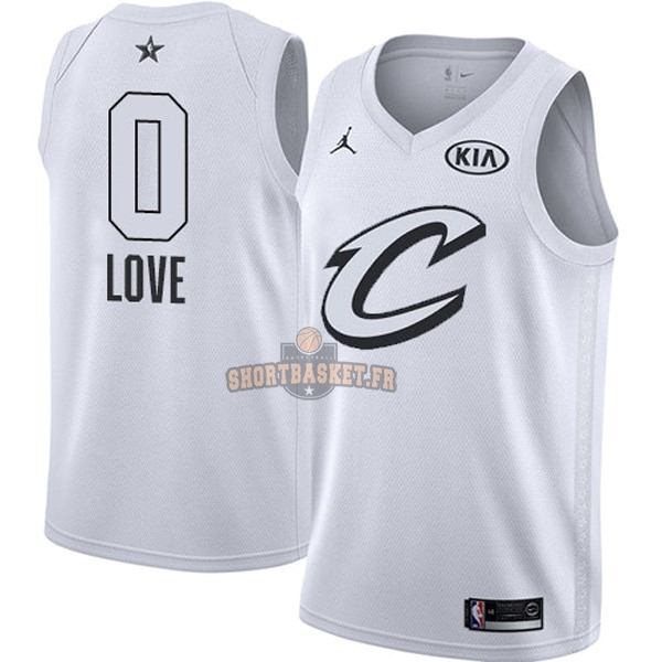 Nouveau Maillot NBA 2018 All Star NO.0 Kevin Love Blanc pas cher