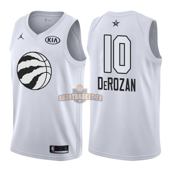 Nouveau Maillot NBA 2018 All Star NO.10 DeMar DeRozan Blanc pas cher