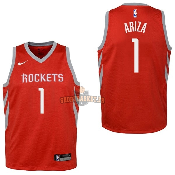 Nouveau Maillot NBA Enfant Houston Rockets NO.1 Trevor Ariza Rouge Icon 2017-18 pas cher