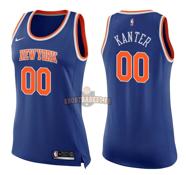 Nouveau Maillot NBA Femme New York Knicks NO.0 Enes Kanter Bleu Icon pas cher