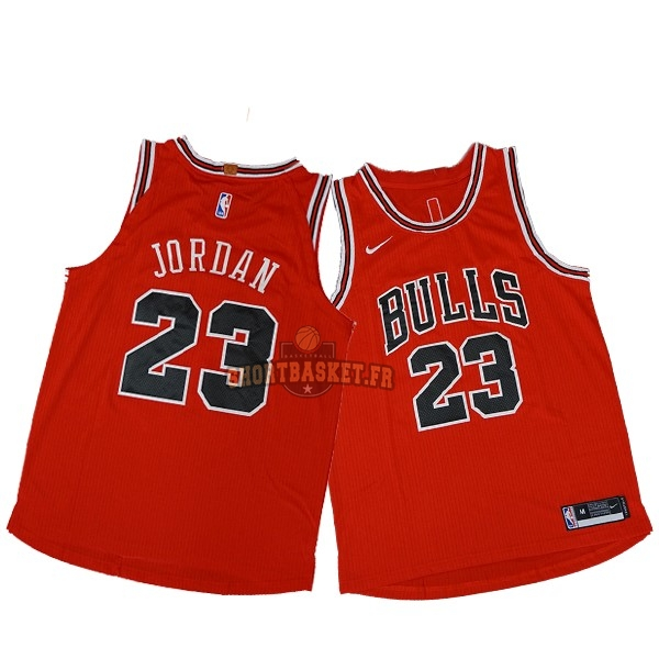 Nouveau Maillot NBA Nike Chicago Bulls NO.23 Michael Jordan Rouge Icon pas cher