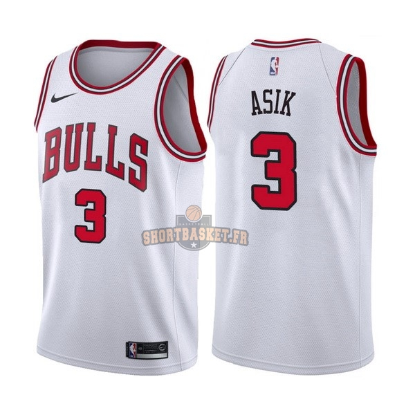 Nouveau Maillot NBA Nike Chicago Bulls NO.3 Dwyane Wade Blanc Association pas cher
