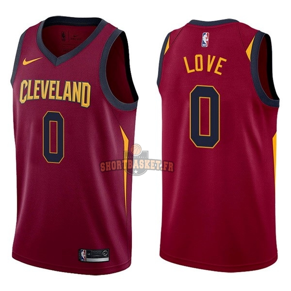 Nouveau Maillot NBA Nike Cleveland Cavaliers NO.0 Kevin Love Rouge Icon pas cher