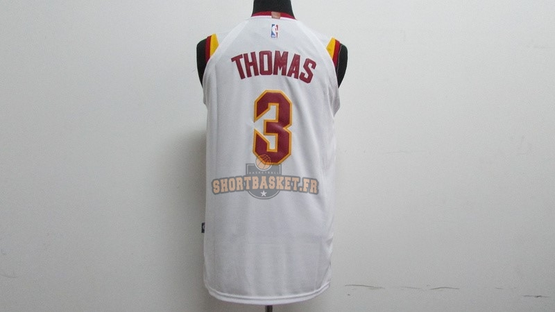 e6b524900aad7 ... Nouveau Maillot NBA Nike Cleveland Cavaliers NO.3 Isaiah Thomas Blanc  pas cher ...