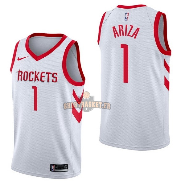 Nouveau Maillot NBA Nike Houston Rockets NO.1 Trevor Ariza Blanc Association pas cher