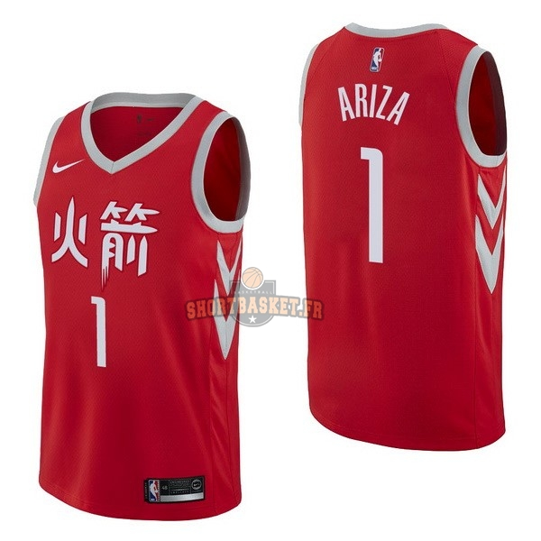 Nouveau Maillot NBA Nike Houston Rockets NO.1 Trevor Ariza Nike Rouge Ville pas cher