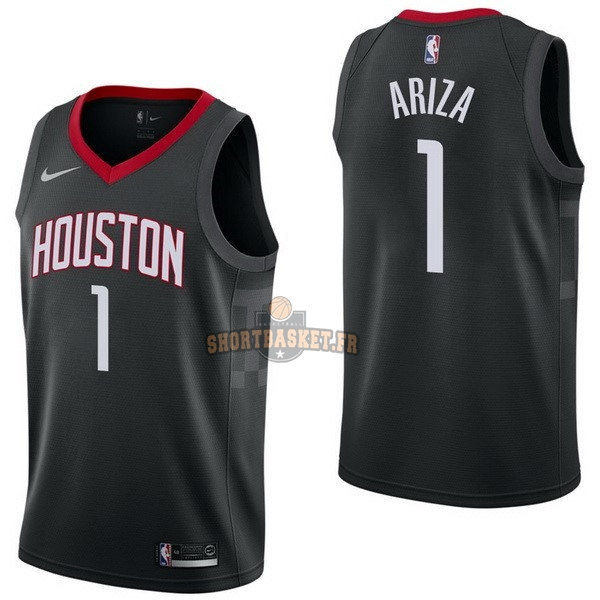 Nouveau Maillot NBA Nike Houston Rockets NO.1 Trevor Ariza Noir Statement pas cher