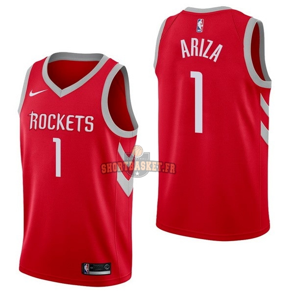 Nouveau Maillot NBA Nike Houston Rockets NO.1 Trevor Ariza Rouge Icon pas cher
