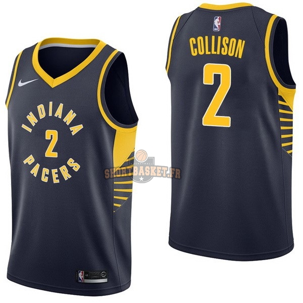 Nouveau Maillot NBA Nike Indiana Pacers NO.2 Darren Collison Marine Icon pas cher