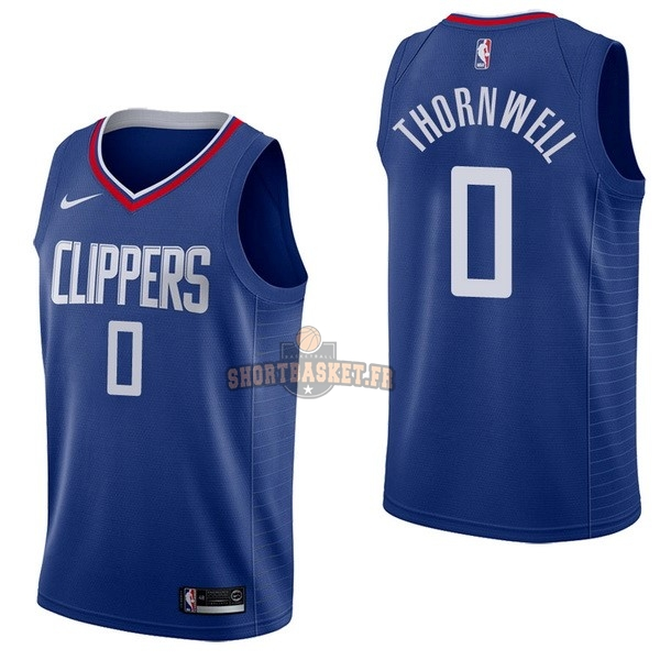 Nouveau Maillot NBA Nike Los Angeles Clippers NO.0 Sindarius Thornwell Bleu Icon pas cher
