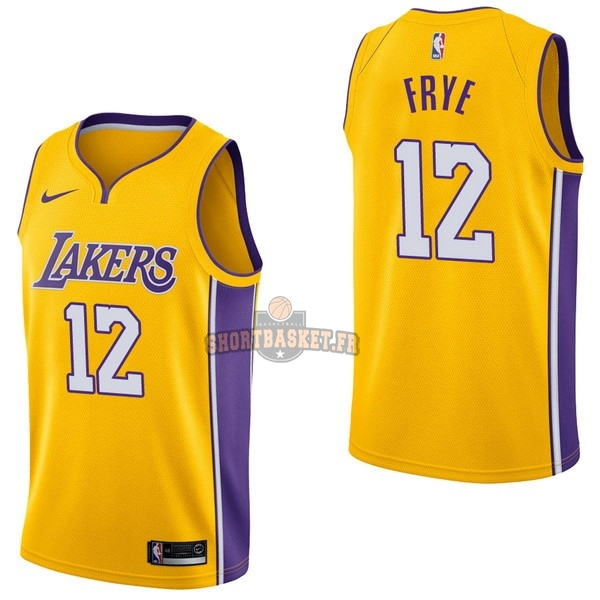 Nouveau Maillot NBA Nike Los Angeles Lakers NO.12 Channing Frye Jaune Icon pas cher