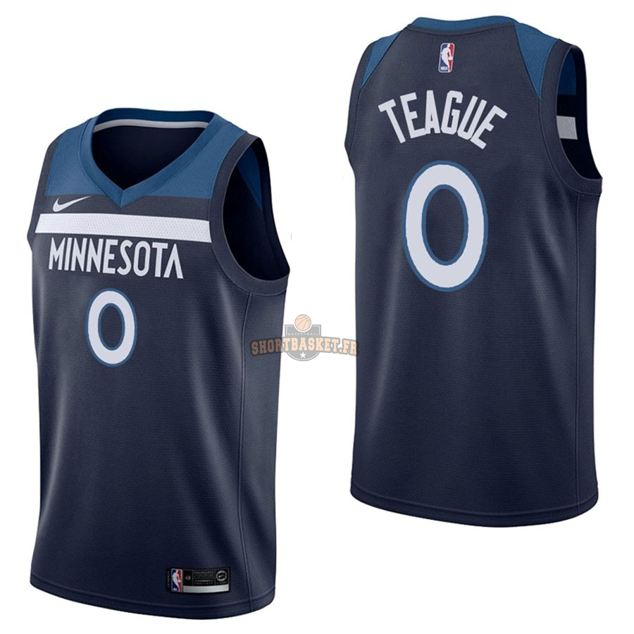 Nouveau Maillot NBA Nike Minnesota Timberwolves NO.0 Jeff Teague Marine Icon pas cher
