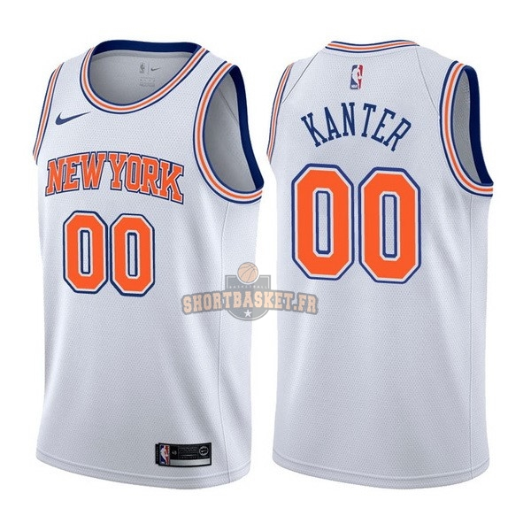 Nouveau Maillot NBA Nike New York Knicks NO.0 Enes Kanter Blanc Statement pas cher