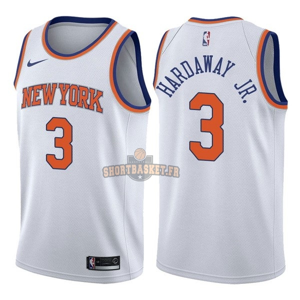 Nouveau Maillot NBA Nike New York Knicks NO.3 Tim Hardaway Jr Blanc Association pas cher