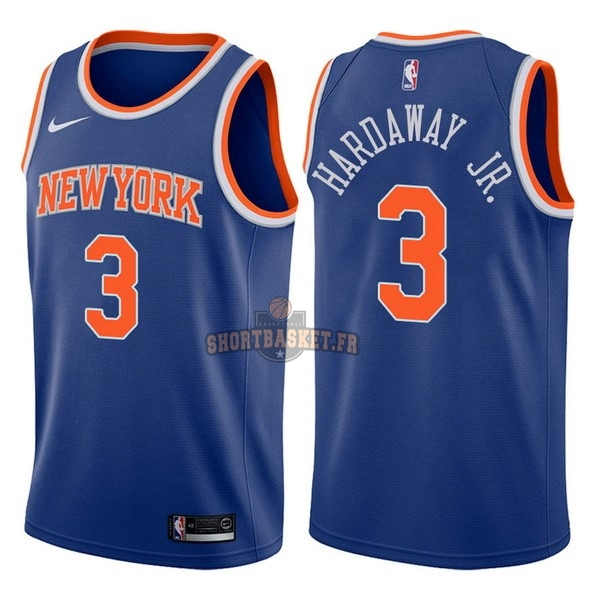 Nouveau Maillot NBA Nike New York Knicks NO.3 Tim Hardaway Jr Bleu Icon pas cher