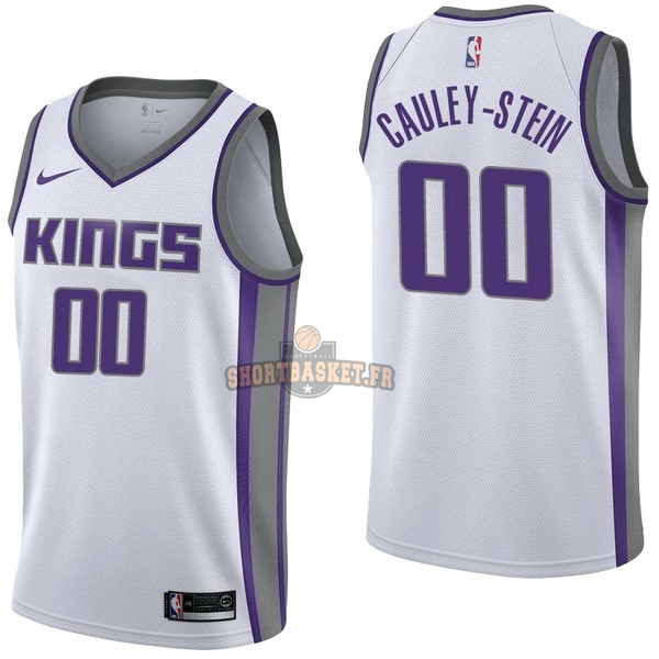 Nouveau Maillot NBA Nike Sacramento Kings NO.0 Willie Cauley Stein Blanc Association pas cher