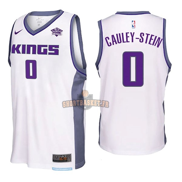 Nouveau Maillot NBA Nike Sacramento Kings NO.0 Willie Cauley Stein Blanc pas cher