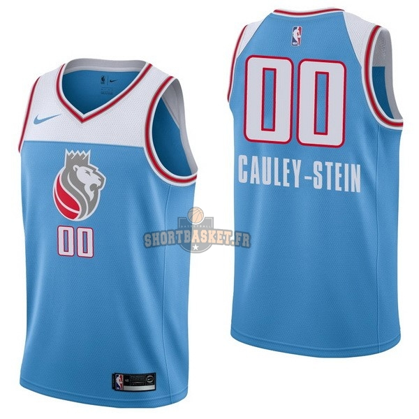 Nouveau Maillot NBA Nike Sacramento Kings NO.0 Willie Cauley Stein Nike Bleu Ville pas cher