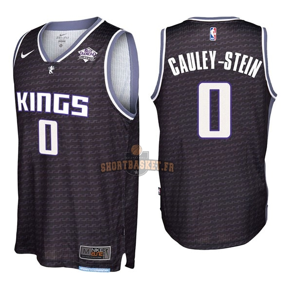 Nouveau Maillot NBA Nike Sacramento Kings NO.0 Willie Cauley Stein Noir pas cher