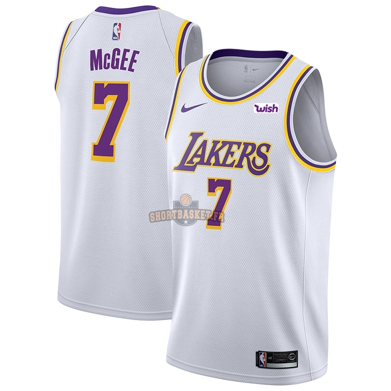 Nouveau Maillot NBA Nike Los Angeles Lakers NO.7 JaVale McGee Blanc 2018-19 pas cher