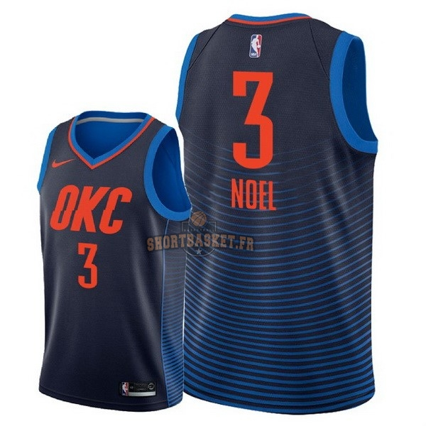 Nouveau Maillot NBA Nike Oklahoma City Thunder NO.3 Nerlens Noel Marine Statement 2018 pas cher