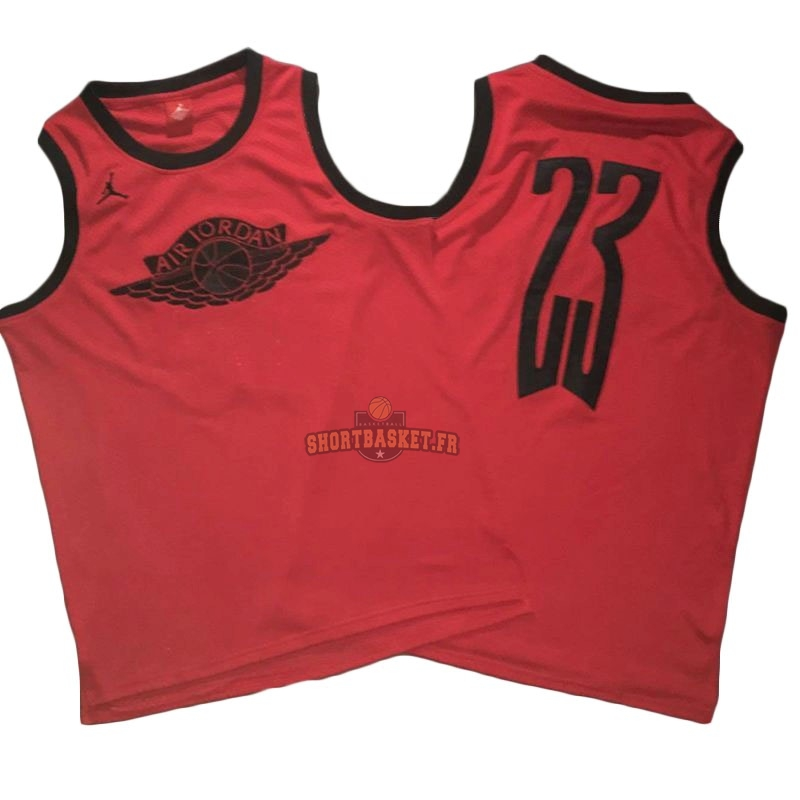 Nouveau Maillot NBA Chicago Bulls NO.23 Michael Jordan Flying Wing Logo Rouge pas cher