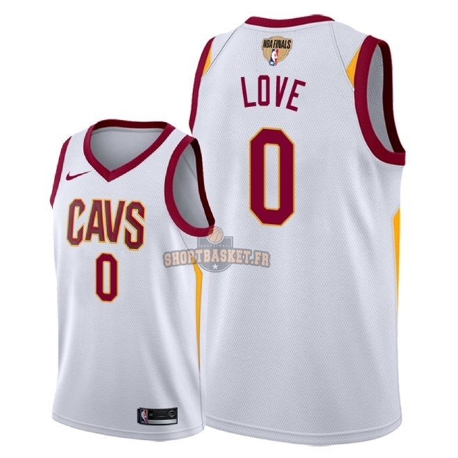 Nouveau Maillot NBA Cleveland Cavaliers 2018 Final Champions NO.0 Kevin Love Blanc Association Patch pas cher