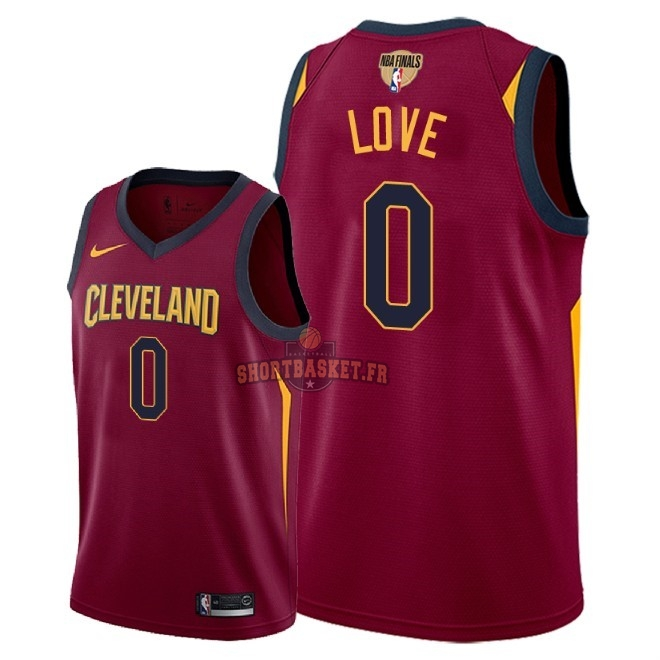 Nouveau Maillot NBA Cleveland Cavaliers 2018 Final Champions NO.0 Kevin Love Rouge Icon Patch pas cher