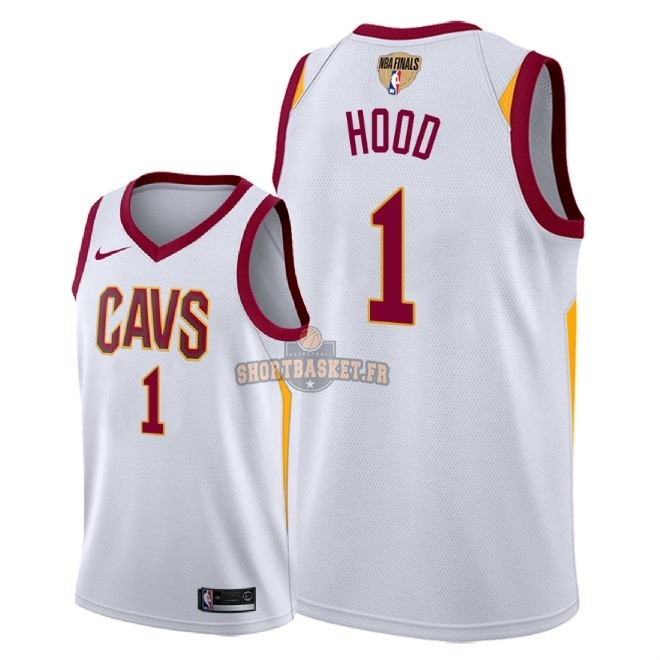 Nouveau Maillot NBA Cleveland Cavaliers 2018 Final Champions NO.1 Rodney Hood Blanc Association Patch pas cher