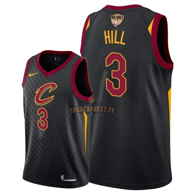 Nouveau Maillot NBA Cleveland Cavaliers 2018 Final Champions NO.3 George Hill Noir Statement Patch pas cher