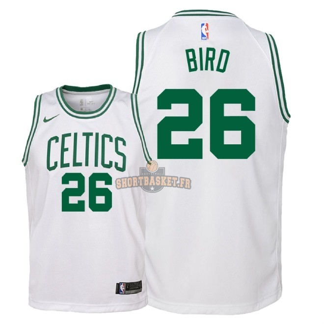 Nouveau Maillot NBA Enfant Boston Celtics NO.26 Jabari Bird Blanc Association 2018 pas cher