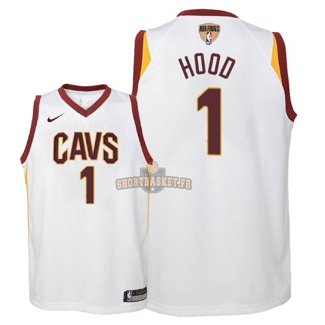 Nouveau Maillot NBA Enfant Cleveland Cavaliers 2018 Final Champions NO.1 Rodney Hood Blanc Association Patch pas cher