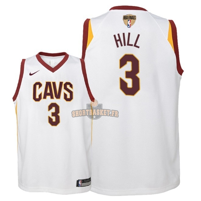 Nouveau Maillot NBA Enfant Cleveland Cavaliers 2018 Final Champions NO.3 George Hill Blanc Association Patch pas cher