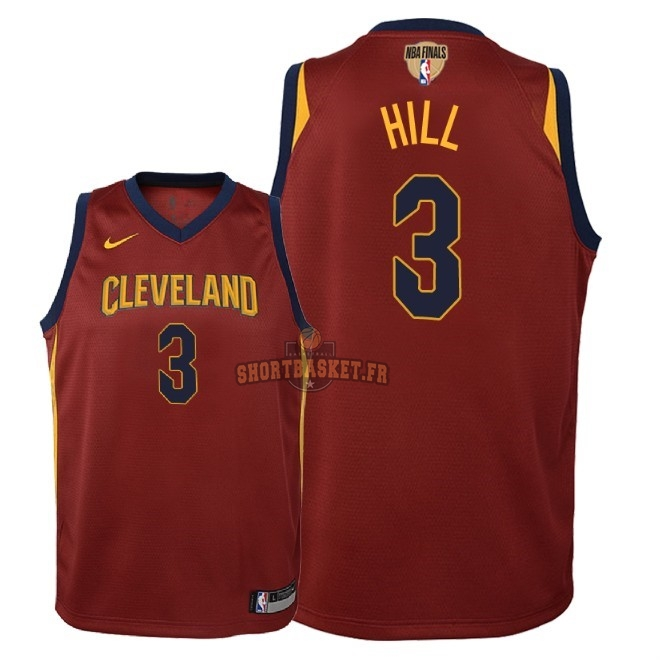 Nouveau Maillot NBA Enfant Cleveland Cavaliers 2018 Final Champions NO.3 George Hill Rouge Icon Patch pas cher