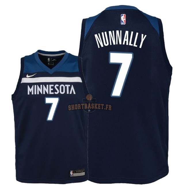 Nouveau Maillot NBA Enfant Minnesota Timberwolves NO.7 James Nunnally Marine Icon 2018 pas cher