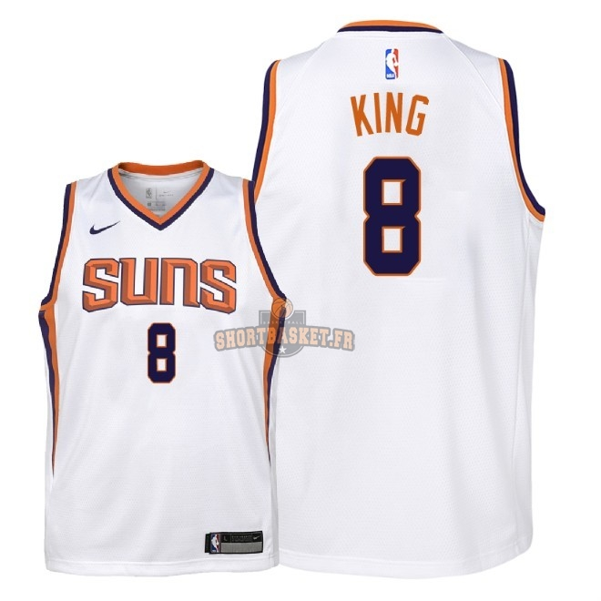 Nouveau Maillot NBA Enfant Phoenix Suns NO.8 George King Blanc Association 2018 pas cher