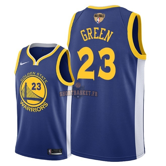 Nouveau Maillot NBA Golden State Warriors 2018 Final Champions NO.23 Draymond Green Bleu Icon Patch pas cher