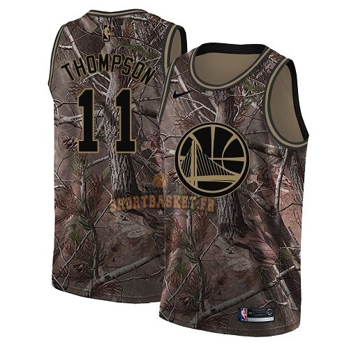 Nouveau Maillot NBA Golden State Warriors NO.11 Klay Thompson Camo Swingman Collection Realtree 2018 pas cher