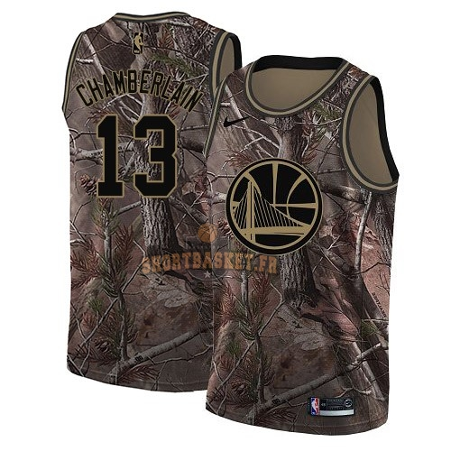 Nouveau Maillot NBA Golden State Warriors NO.13 Wilt Chamberlain Camo Swingman Collection Realtree 2018 pas cher