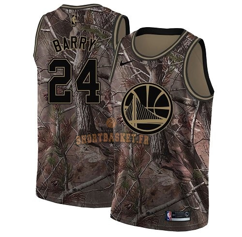 Nouveau Maillot NBA Golden State Warriors NO.24 Rick Barry Camo Swingman Collection Realtree 2018 pas cher