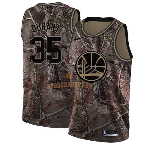 Nouveau Maillot NBA Golden State Warriors NO.35 Kevin Durant Camo Swingman Collection Realtree 2018 pas cher