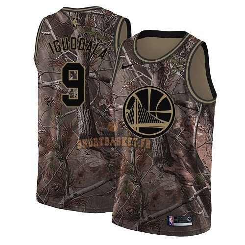 Nouveau Maillot NBA Golden State Warriors NO.9 Andre Iguodala Camo Swingman Collection Realtree 2018 pas cher